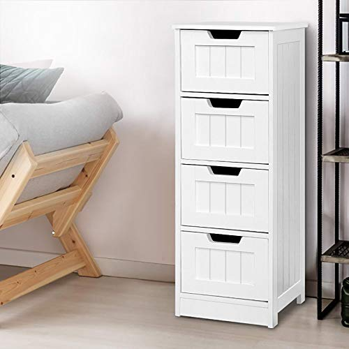 Artiss Tallboy Chest of Drawers Wooden White
