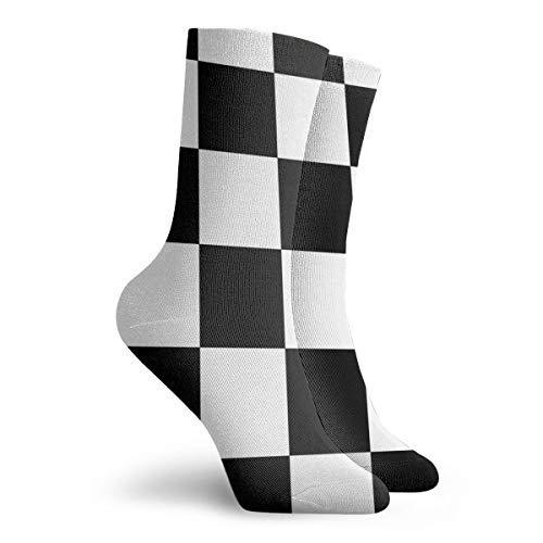Herren Damen Kleid Socken Kariert Stiefel Knie Lange Hose für Yoga