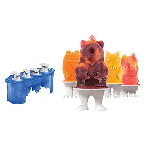 DFKDGL Ensemble de Moule de Popsicle de Cuisine, Ice Cube Moule Boule Moule Sphère Silicone Ice Rounds Maker, Popsicle Maker, Moules de bac à Glace, Monster Popsicle Moulds Set