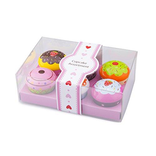 New Classic Toys Coffret de Cupcake en bois Jeu d'Imitation Éducative pour Enfants