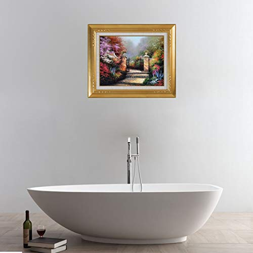 Hmg 3D Scenery View, Etiqueta de Arte de Pared de baño extraíble, tamaño: 50 x 60 x 0,3 cm