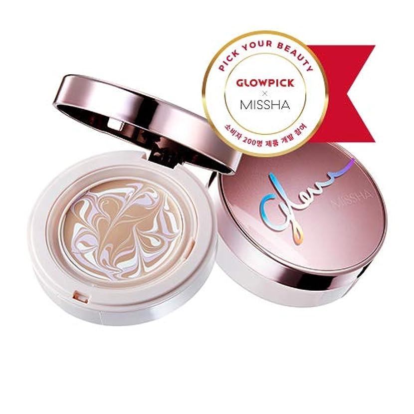 活性化する等価女の子ミシャ グロー アンプルパクト MISSHA Glow Ampoule Pact SPF50+/PA+++ #Vanilla (No.21) [並行輸入品]