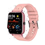Smart Watch, Fitness Tracker with Heart Rate Monitor Sleep Monitor Pedometer and Calorie Counter IP67 Waterproof Pedometer Smartwatch for Men Women, Compatible with iPhone Android Phones, Pink
