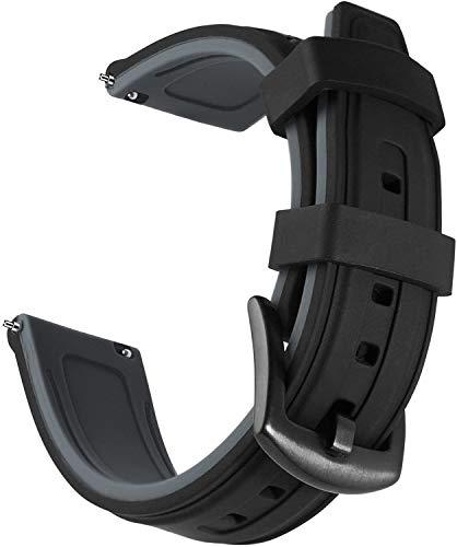Shieranlee 24mm Ricambio di Cinturino di Silicone caucciù Sgancio Rapido per Fossil Q Machine Hybrid, Nate Hybrid; Michael Kors Grayson,Sony Smartwatch 2