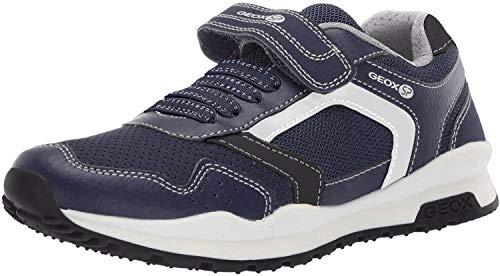 Geox Jungen CORIDAN Boy 5 Velcro Sneaker Turnschuh, Marineblau/schwarz, 36 EU