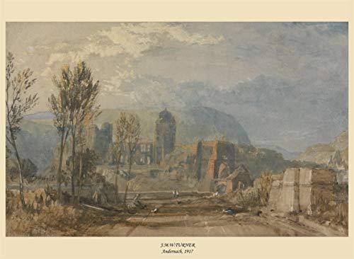 J.M.W Turner Aldernach, Anglia, 1817, reprodukcja Plakatu w styluvintage o gramaturze 200g/m2 w rozmiarze A3