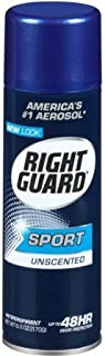 Right Guard Sport 3D Odor Defense Antiperspirant Deodorant Aerosol Unscented - 6 oz, Pack of 3