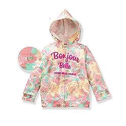 EIMOIE Printed Girls Winter Jacket - Peach