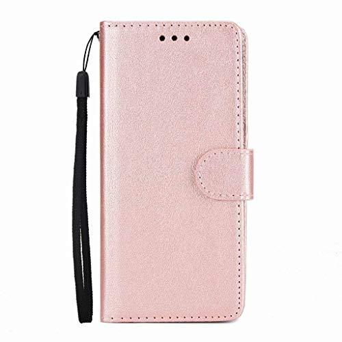 Bakicey Kompatibel mit Samsung Galaxy S9 Plus Leder Handy Hülle S9 Flip Case Handytasche Cover Schale mit Kredit Karten Fach Geldbörse Geldklammer Leder Handy Schutzhülle (Galaxy S9 Plus, Roségold)