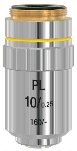 Bresser DIN-PL 10x - Objetivo Plan acromático para microscopios