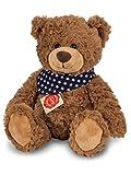Teddy Hermann 91362 Teddy 30 cm, Kuscheltier, Plüschtier, Teddybär, mit Sternchen-Halstuch