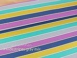 Mamasliebchen Jersey-Stoff widestripes #Gray-Mix (0,5m)