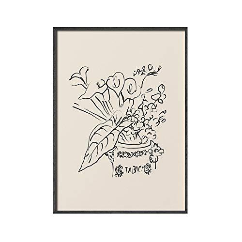 Henri Matisse pintura abstracta minimalismo ilustración impresiones cartel retro beige pintura de lienzo sin marco E 30x45cm