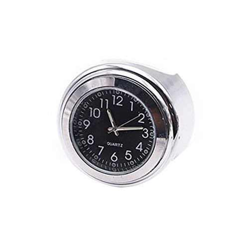 Houkiper Reloj de Motocicleta, Reloj de Cuarzo con Manillar Universal Reloj Luminoso a Prueba de Polvo