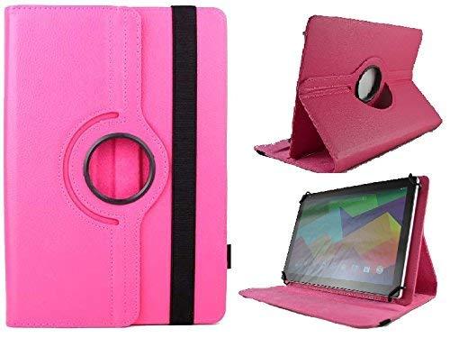 Theoutlettablet Funda Giratoria 360º para Tablet SPC Glow/Gravity/Heaven/Twister 10.1' - Rosa Fucsia