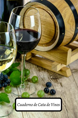 Cuaderno de Cata de Vinos: 53 fichas para rellenar | cuaderno, libro, diario, para los amantes del vino