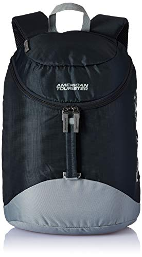 American Tourister Scamp 19 Ltrs Black/Grey Casual Backpack (FI4 (0) 09 001)