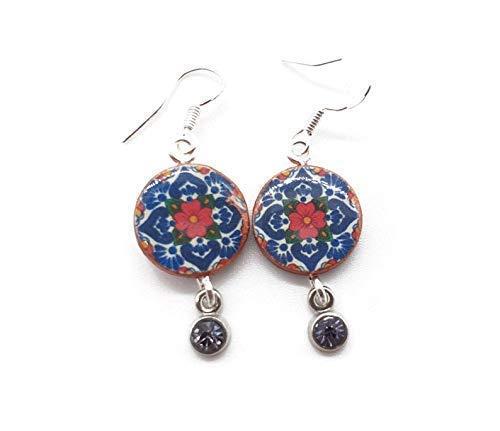 Talavera Mexican Tile Earrings