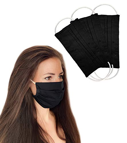 BaF 3er-Black Staubschutzmaske, Schwarz, 2 Pack