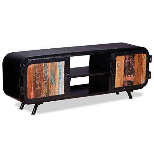 vidaXL Madera Reciclada Mueble TV 120x30x45 Mueble Auxiliar Aparador Televisor