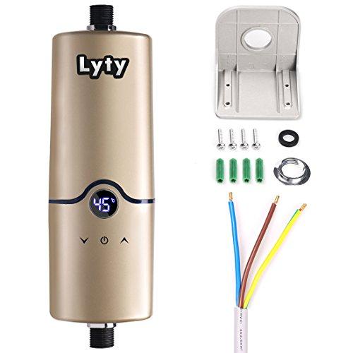 Mini Chauffe eau instantané électrique - Douche Sous Evier 220V 4 niveaux de puissance (3.5KW 4.5KW 5KW 5.5KW) chauffe-eau chaude pour la salle de bains de cuisine
