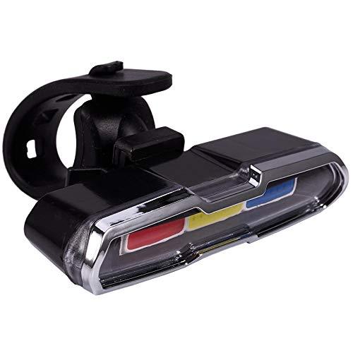 anruo USB de carga delantera y trasera de la bicicleta de la luz de la batería de litio LED de la bicicleta de la luz de la bicicleta del casco de la luz