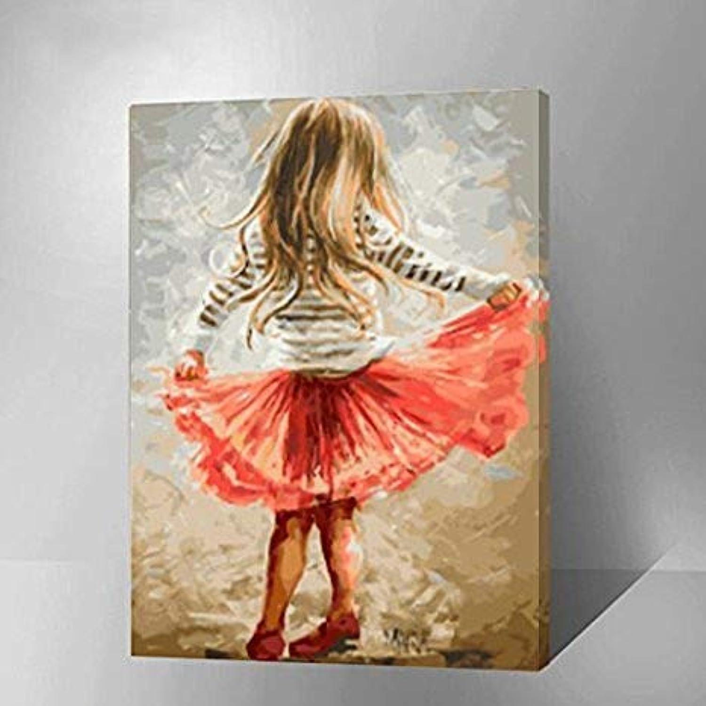 Agolong Malen nach Zahlen Kit mit Pinsel und Farben (Lively Girl) Mit Rahmen 40x50cm B07NRVH5W4 | Schön In Der Farbe