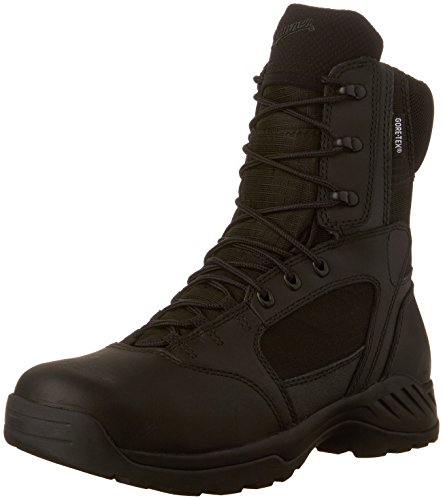 "Danner Men's Kinetic 8"" Side Zip GTX Work Boot,Black,10.5 D US"