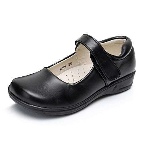 Akk Girls Mary Jane School Uniform Shoes Strap Dress Flats Black Little Kid Size 1.5