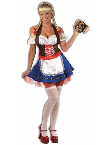Sexy Oktoberfest Heidi German Maid Ladies Fancy Dress Costume 10-14 (disfraz)