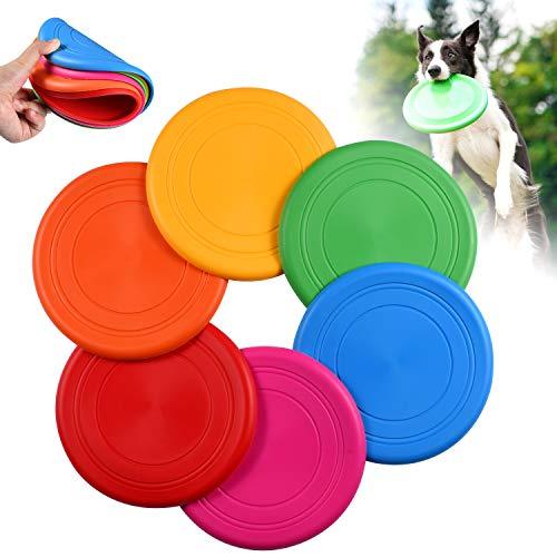 OMZGXGOD Pet Frisbee,Disco Volador de Silicona Suave para Perro, Juguete para Mascota, Juguete Volador de Disco de Frisbee para Entrenamiento de Perro