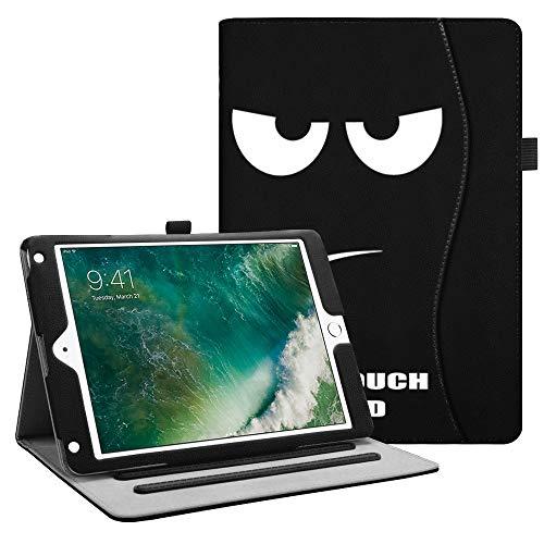 Fintie Funda para iPad 9.7 2018/2017, iPad Air 2, iPad Air - [Protección de Esquina] [Multiángulo] Folio Carcasa con Bolsillo Función de Soporte y Auto-Reposo/Activación, No Tocar