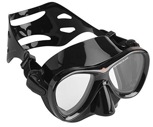 Seac Cove duikmasker, duikmasker, snorkelmasker, zwart en standaard