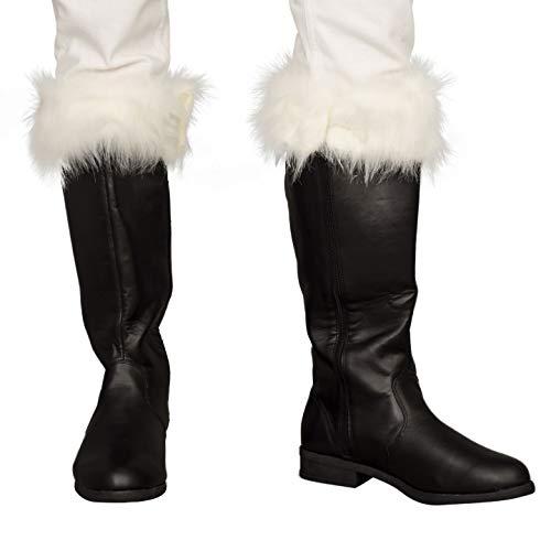 Adult Halloween Christmas Santa Claus Adult Costume Black Boots (Medium US 10-11)