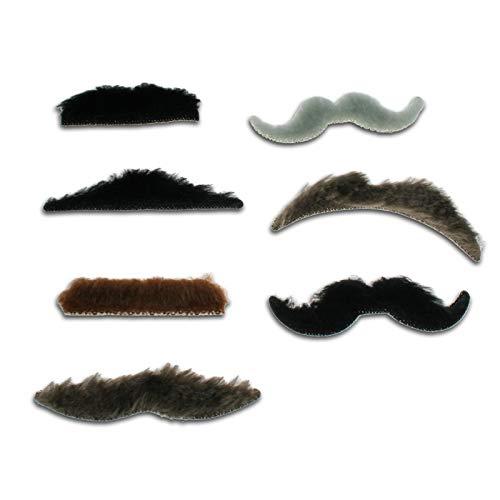 50 FIFTY Moustaches Auto-adhésives, Cadeau Fun