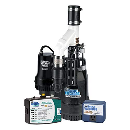 THE BASEMENT WATCHDOG Big Combo CONNECT Model CITS-50 1/2 HP Primary and Battery Backup Sump Pump System with Smart WiFi Capable and 24 Hour a Day Monitoring Controller