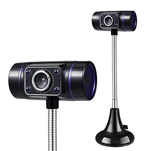 KXHWSH HD-Video Computer Webcam Mit Eingebautem Mikrofon, USB Keine Notwendigkeit zu Fahren, Wird für Video-Chat, Online-Kurse und Webcasts Verwendet