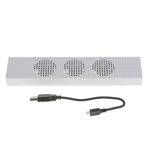 SM SunniMix Ventilador De Enfriamiento De Alta Velocidad de 3 Ventiladores con Puerto De USB 2 para La Consola De Xbox One S