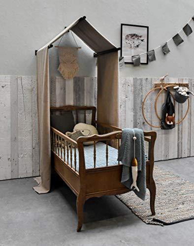 Barnwood Wandholz Whitewash, Wandverkleidung aus Holz in 3D-Optik, 0,8 m2 - 2