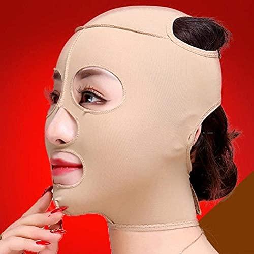 LXNQG V Facial Vendaje Fac Face Slimming Massagming Cintero Ascensor Cinta Cinta Cuello Cuello Revista Slim Anti Arrugas V Línea Face Lift Etiquetas Vendaje S (Color : S)