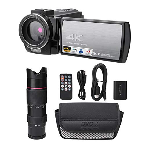 SALUTUYA Cámara WiFi K9 Prism Webcam, para documentales de Noticias, para filmación de microfilmes(Standard + telephoto Glasses + Battery)