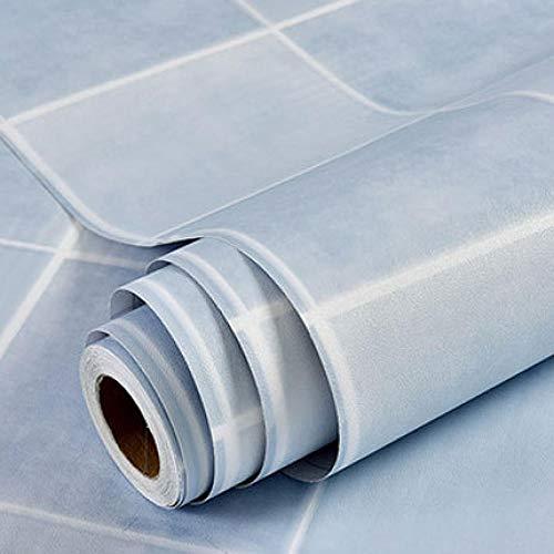 ACCEY rollo vinilo adhesivo Mosaik Küchen Tapeten Wasserdicht Vinyl selbstklebende Tapetenrolle für Küchenwände Decoration@Mint_Blue_1.35