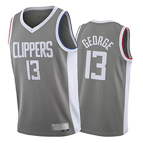2021 Nueva Temporada 13 # Páùl Gèórgè Basketball Jersey, Camiseta de los hombres, 100% fibra de poliéster, Unisex Cómodo Baloncesto Deportes Chaleco 2XL