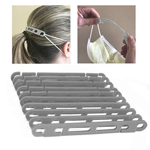 GR Innovations LLC Flexible Mask Extender | Mask Hook | Mask Strap (gray)