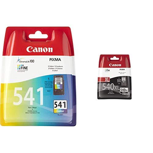 Canon PG-540XL Cartucho de tinta original Negro XL + CL-541 Cartucho de tinta original Tricolor para Impresora de Inyeccion de tinta Pixma