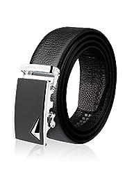 Demon&Hunter ABL Series Luxury Men's Belt DH430B(Black/130CM)
