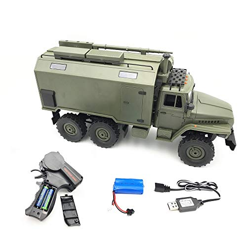 New WPL B36 Ural 1/16 RTR 2.4G 6WD RC Remote Control Car,Speed Race,Electric Off-Road Military Truck Crawler - 30 Min Standby Suitable for Any Terrain, Halloween Christmas Children Gift (Army Green)