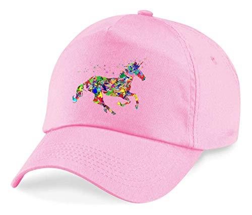 Druckerlebnis24 Gorra – Colorida prismática cromática arco iris – Gorra de béisbol para hombre, mujer y niños Rosa. Talla única