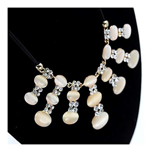 chenyou Collar bohemio con colgante grande de calabaza, collar para mujer, collar personalizado (color: 43 cm, tamaño: color dorado)