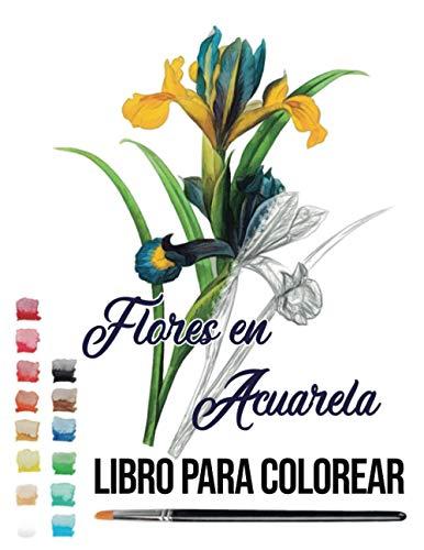 flores en acuarela: libro para colorear acuarela acrílico colores teoria del color